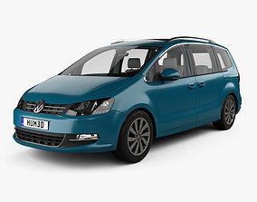 3D Volkswagen Sharan with HQ interior 2016