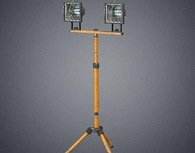 Tripod lamp 3D asset