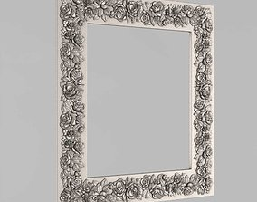 3D printable model Frame mirror with blooming roses