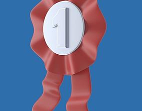 3D Ribbon or badge or medal or award