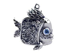 Fish in Wave 3D print model