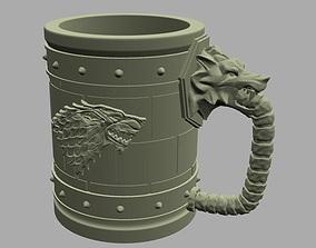 3D printable model House Stark Jar