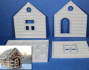 GINGERBREAD HOUSE COOKIE CUTTERS 3D print model