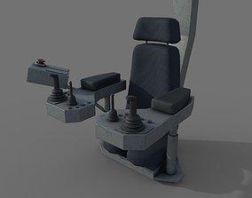 3D model Control panel with joysticks - crane or gantry