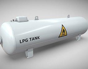 3D Liquefied Petroleum Gas Tank High-Poly