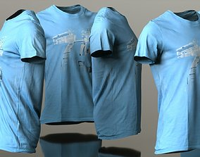 Mens Clothing Light Blue Tshirt 3D model