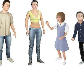 Family 4x models real cloth simulation 3
