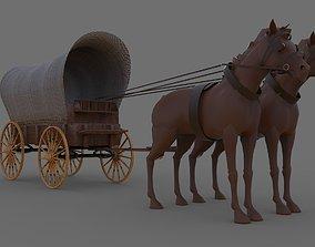 Wagon 3D model game-ready