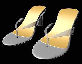 3D girl Thong Heel Sandals 01