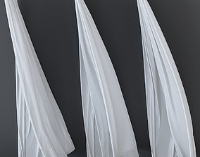 Curtain in the wind 3D model