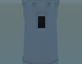 Low Poly Lighthouse 3D asset