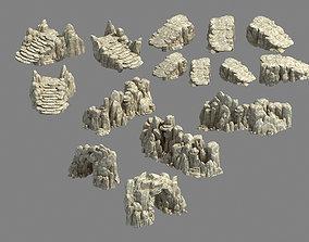 Kunlun Mountains - Rock 04 3D