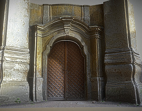 3D model Old rusty church gate scan