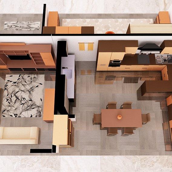 kitchen space - hall