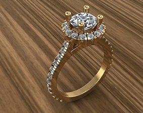 3D printable model zircon Solitaire Ring