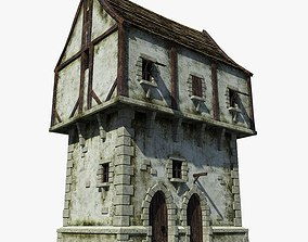 house 3D model low-poly Medieval House