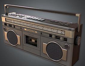 3D asset Boombox Retro 80s