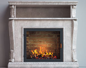 fireplace furniture 3D model