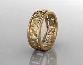 3D model flower ring for printing 3D print