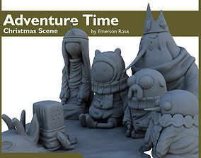 3D print model Adventure Time - Christmas Scene