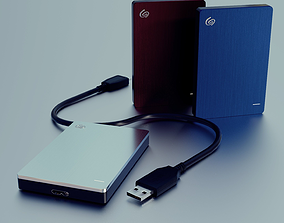 Seagate Backup Plus Slim 3D Model and Office game-ready