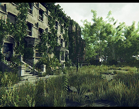 Post Apocalyptic World 3D asset
