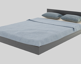 Modern Bed residential-space 3D model