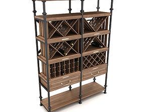 3D model vintage wine rack