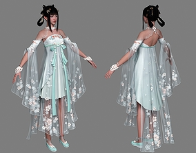 3D asset Chinese beauty Woman Female pretty girl lady 2
