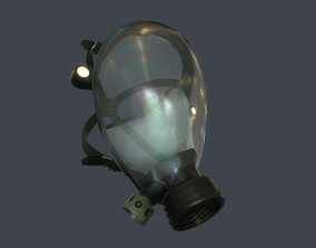 chemicals 3D asset game-ready Gas Mask