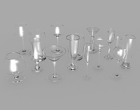 3D model realtime Big glass collection
