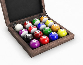 3D model Billiard Ball Box