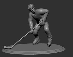 Hockey Player Collectible Figure Statue 3D print 2