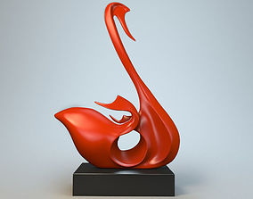3D print model Sculpture Swan P