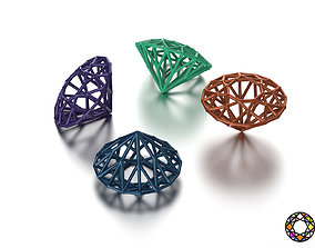 brilliant grid 0189 3D printable model