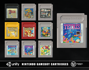 Nintendo Gameboy Cartridges 3D model