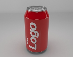 Cold Drink Can 3D model