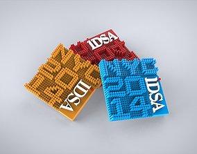 3D iDSA Lapel Pin - Concept 1