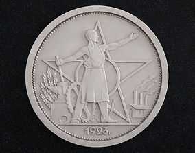 3D printable model cnc coin ruble 1923