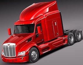 3D model Peterbilt 579 semi truck 2012