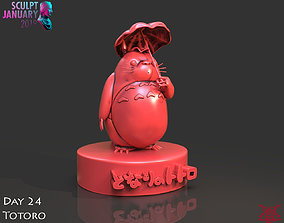 Totoro Sculpture Timelapse and Model
