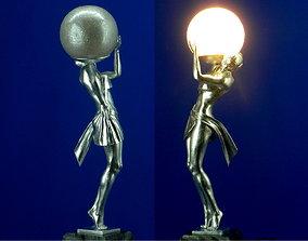3D printed lamp Woman carrying light wedding