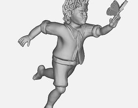 Boy with butterfly 3D printable model