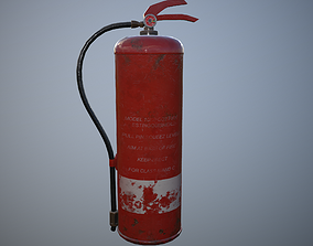 3D model low-poly Fire Extinguisher PBR