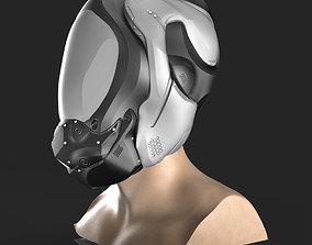 3D model SCIFI HELMET 02