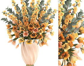 3D model Bouquet of spring flowers tulips