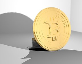 3D print model coins Bitcoin - gold