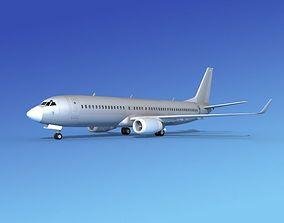 3D model Boeing 737-800 Bare Metal