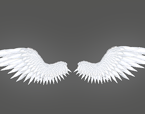 3D asset game-ready Angel Wings