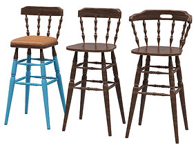 Bar stools Fameg 3D